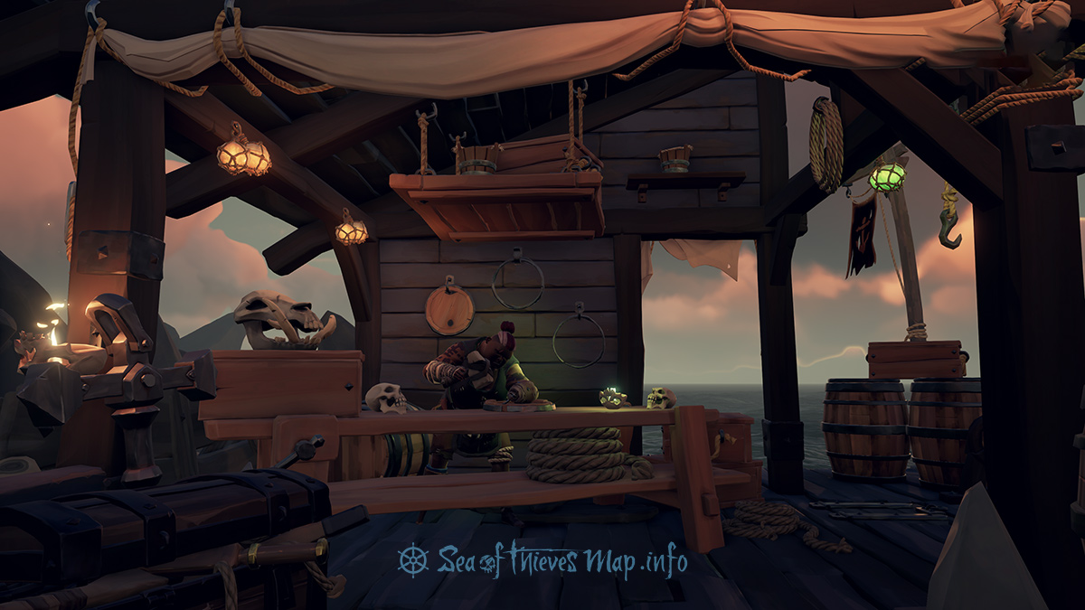 Sea Of Thieves Map - Galleon's Grave Outpost - Shipwright