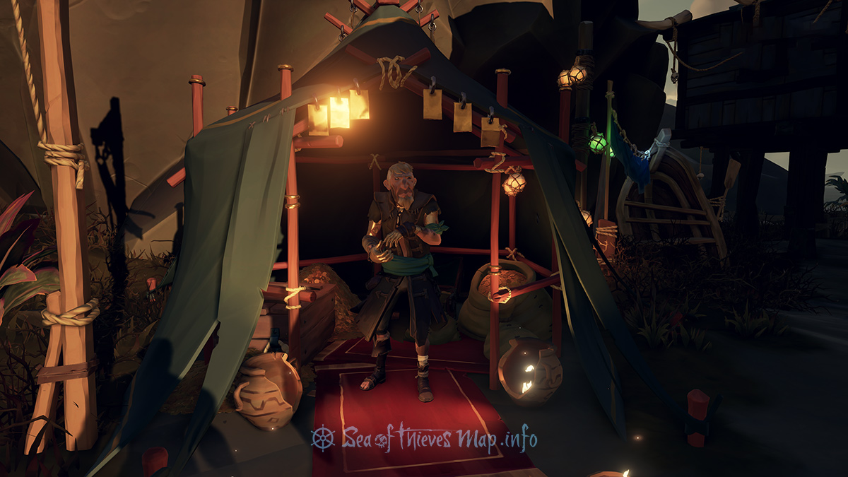 Sea Of Thieves Map - Galleon's Grave Outpost - Gold Hoarder Shopkeeper