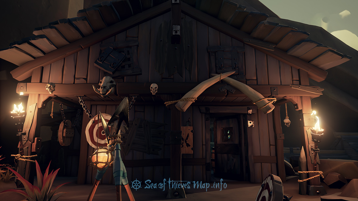 Sea Of Thieves Map - Galleon's Grave Outpost - Weaponsmith's Shop