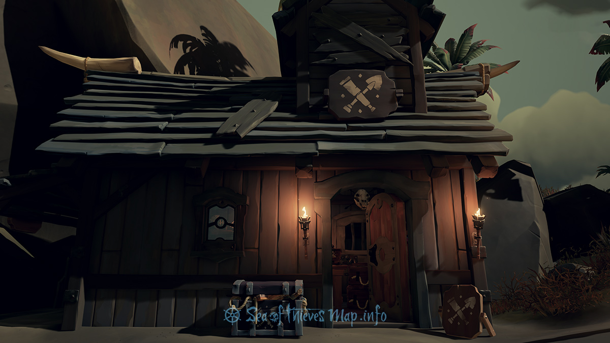 Sea Of Thieves Map - Galleon's Grave Outpost - Equipment Shop