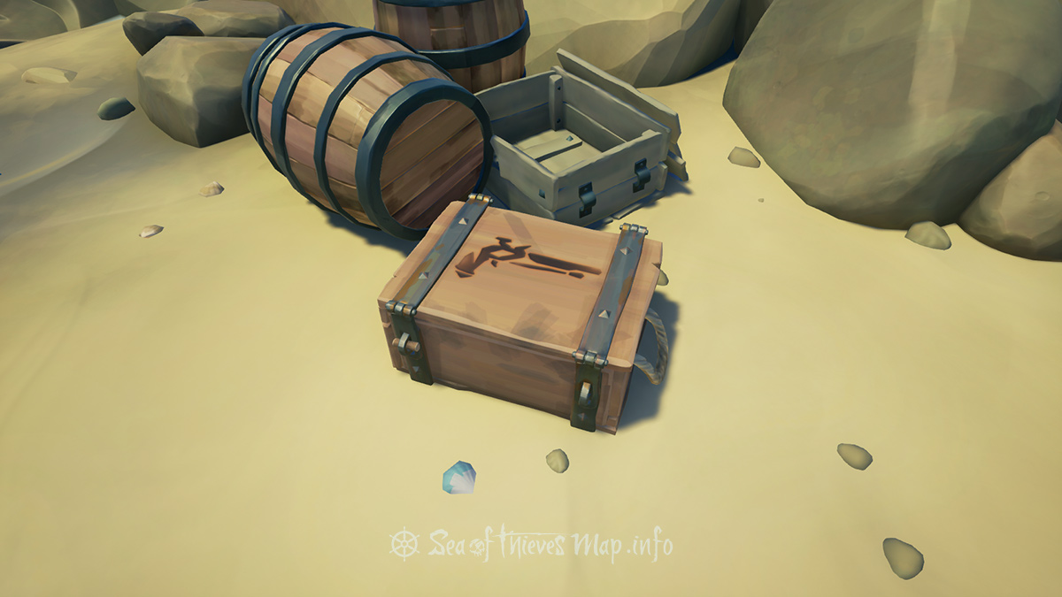 Sea Of Thieves Map - Shipwreck Bay - Ammo Chest