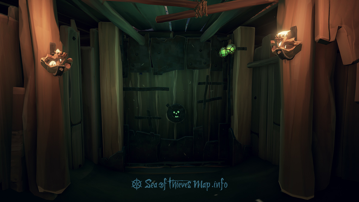 Sea Of Thieves Map - Lost Gold Fort - Fort