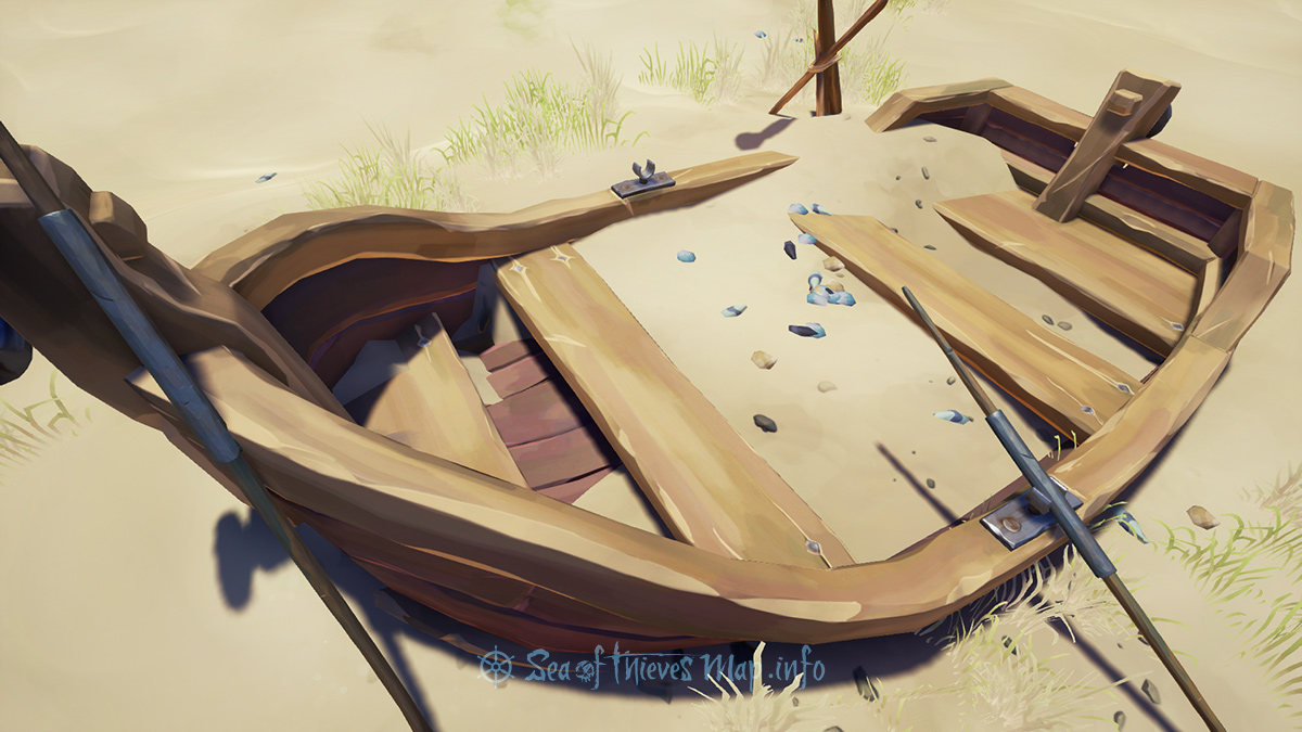 Sea Of Thieves Map - Rowboat - Landmark